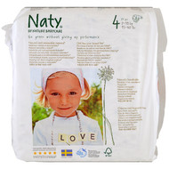 Naty, Diapers, Size 4, 15-40 lbs (7-18, 31 Diapers