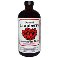 Natural Sources, Natural Cranberry Concentrate Blend, Unsweetened, 16 fl oz (480 ml)