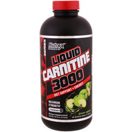 Nutrex Research, Liquid Carnitine 3000, Green Apple, 16 fl oz (473 ml)