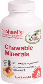 Michael's Naturopathic Programs Chewable Minerals Natural Tropical Fruit - 90 Chewable Vegan Wafers