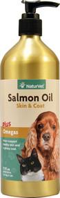 NaturVet Salmon Oil Skin & Coat Plus Omegas For Cats & Dogs - 17 fl oz