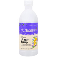 NuNaturals, NuStevia, Ginger Syrup, 16 fl oz (.47 l)