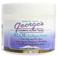 Georges Aloe Vera, Aloe Collagen Cream, 2 fl oz (59 ml)