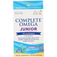 Nordic Naturals, Complete Omega Junior, Lemon, 283 mg, 90 Mini Soft Gels