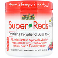 Country Farms, Super Reds, Energizing Polyphenol Superfood, Berry Flavor, 7.1 oz (200 g)