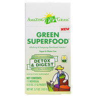 Amazing Grass, Green Superfood, Detox & Digest, 15 Packets, 0.25 oz (7 g) Each