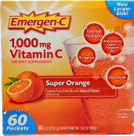 Emergen-C, Vitamin C Fizzy Drink Mix,  Super Orange - 1000 mg - 60 Packets