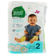 Seventh Generation, Baby, Free & Clear Diapers, Size 2, 12-18 Pounds (5-8, 36 Diapers