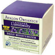 Avalon Organics, Daily Moisturizer, Lavender Luminosity, 2 oz (57 g)