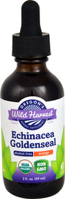 Oregons Wild Harvest Organic Echinacea Goldenseal Alcohol-Free Orange -- 2 fl oz