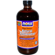 NOW Foods Natural Resveratrol Liquid Concentrate Cardiovascular Support - 16 fl oz