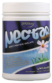 Syntrax, Nectar Whey Protein Isolate Powder,  Unflavored - 1 lb