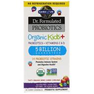 Garden of Life, Dr. Formulated Probiotics, Organic Kids +,  Probiotics + Vitamins C & D, Tasty Organic Berry Cherry, 5 Billion, 30 Yummy Chewables