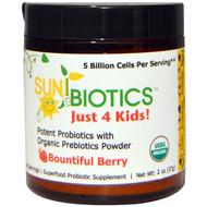 Sunbiotics, Just 4 Kids! Potent Probiotics with Organic Prebiotics Powder, Bountiful Berry, 2 oz (57 g)