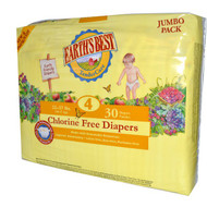 Earths Best, TenderCare, Chlorine Free Diapers, Size 4, 22-37 lbs, 30 Diapers