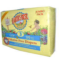 Earths Best, TenderCare, Chlorine Free Diapers, Size 3, 16-28 lbs, 35 Diapers