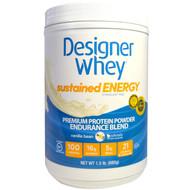 Designer Protein, Designer Whey, Premium Protein Powder, Endurance Blend, Vanilla Bean, 1.5 lbs (680 g)