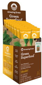 Amazing Grass Green SuperFood Drink Powder Cacao Chocolate Infusion - 15 Packets
