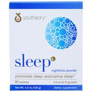 Youtheory Sleep Nighttime Powder Natural Lemon Lime -- 21 Packets