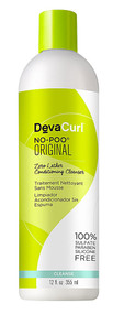 DevaCurl No-Poo Zero Lather Conditioning Cleanser - 12 fl oz