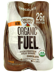 Organic Valley, Organic Fuel High Protein Milk Shake,  Chocolate - 4 Bottles