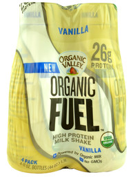 Organic Valley, Organic Fuel High Protein Milk Shake,  Vanilla - 4 Bottles