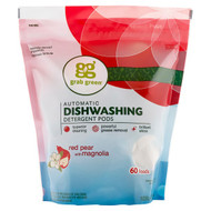 Grab Green, Automatic Dishwashing Detergent Pods, Red Pear with Magnolia, 60 Loads, 2 lbs 4 oz (1,080 g)