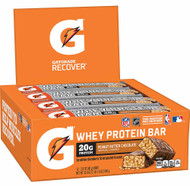 Gatorade Whey Protein Bar Peanut Butter Chocolate -- 12 Pack