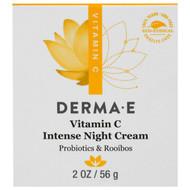 Derma E, Vitamin C Intense Night Cream, Probiotics & Rooibos, 2 oz (56 g)