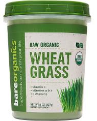 BareOrganics Wheat Grass Powder Raw - 8 oz