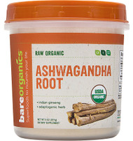 BareOrganics Aswagandha Root Powder Raw -- 8 oz
