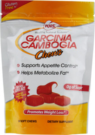 Healthy Natural Systems (HNS), Garcinia Cambogia Chews, Tropical Punch - 30 Soft Chew