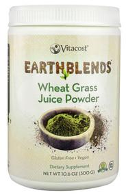 Vitaco, - Earth Blends Wheat Grass Juice Powder - Non-GMO - 60 Servings - 10.6 oz (300 g)