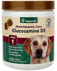 NaturVet Glucosamine DS with Chondroitin For Dogs & Cats -- 120 Soft Chews