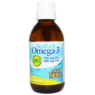 Natural Factors SeaRich Omega-3 750 mg EPA 500 mg DHA Coconut-Lime - 6.76 fl oz