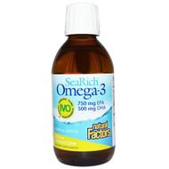 Natural Factors SeaRich Omega-3 750 mg EPA 500 mg DHA Coconut-Lime - 6.76 fl oz