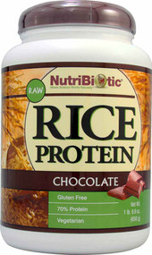 NutriBiotic Raw Rice Protein Powder Chocolate - 1.69 lbs
