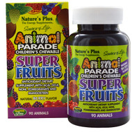 Natures Plus, Source of Life Animal Parade, Childrens Chewable Super Fruits, Natural Berry, 90 Animals