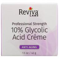 Reviva Labs, 10% Glycolic Acid Cream, Anti-Aging, 1.5 oz (42 g)