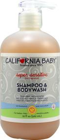 California Baby, Super Sensitive Shampoo and Bodywash No Fragrance - 19 fl oz