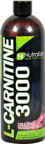 NutraKey L-Carnitine 3000 Delicious Watermelon - 16 fl oz