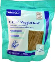 Virbac C.E.T. VeggieDent Tartar Control Chews for Dogs Regular - 30 Dog Treats
