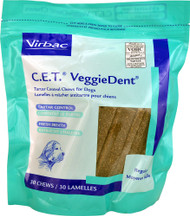 Virbac C.E.T. VeggieDent Tartar Control Chews for Dogs Regular - 30 Dog Treats