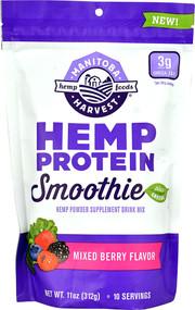 Manitoba Harvest Hemp Protein Smoothie Plus Greens  Mixed Berry - 11 oz