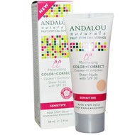 Andalou Naturals, 1000 Roses, CC Color + Correct, Sensitive, SPF 30, Sheer Beige, 2 fl oz (58 ml)