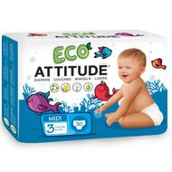 ATTITUDE, Diapers, Midi 3, 11-24 lbs (5-11, 30 Diapers