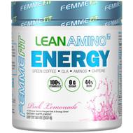 FEMME, Lean Amino Energy, Fat-Burning BCAA + CLA + B12 + Caffeine Drink, Pink Lemonade, 6.9 oz (195 g)