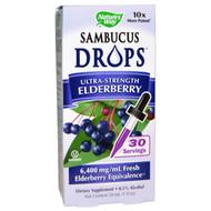 Natures Way, Sambucus, Ultra-Strength Elderberry, 1 fl oz (30 ml)