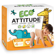 ATTITUDE, Diapers, Maxi, Size 4, 20-31 lbs (9-14, 26 Diapers