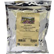 "Starwest Botanicals, Ginger Root 1/4"" C/S, Organic, 1 lb (453.6 g)"